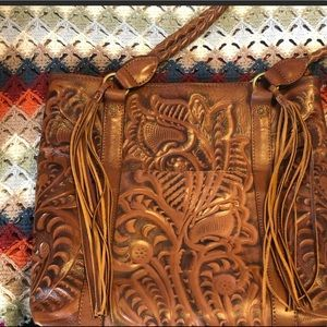 Patricia Nash Tooled Leather Tote—barely used